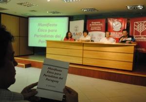 Presentación del Manifiesto Ético para Periodistas