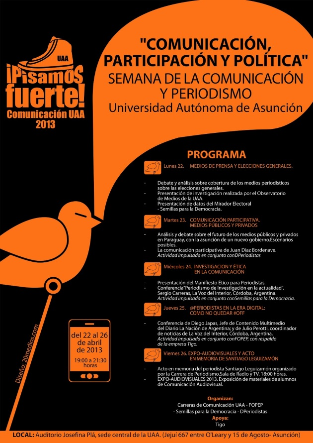 Semana de la Comunicación y Periodismo. UAA 2013. FB